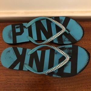 PINK Embellished Flip Flops